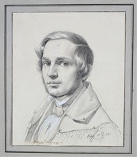 portrait des a. jecherling (oder ascherling?) by karl friedrich boser