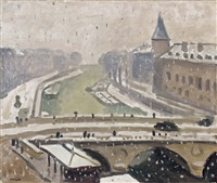 neige à paris by albert marquet