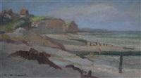 plage de quiberville by gaston pierre duhamel