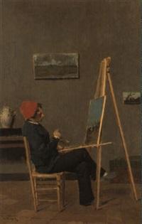 pittore nello studio by vincenzo volpe