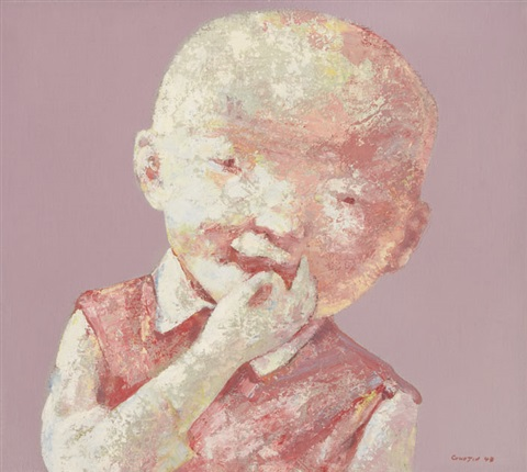 childs face n°8 by guo jin