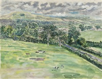 towards the downs, hurstpierpoint by norman clark
