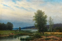 summer landscape by lars theodor billing