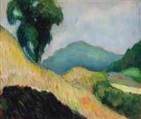 landscape (recto and verso) by leon kroll