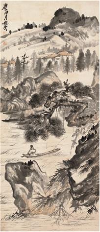 松谿独钓图by Zhu Qizhan on art...