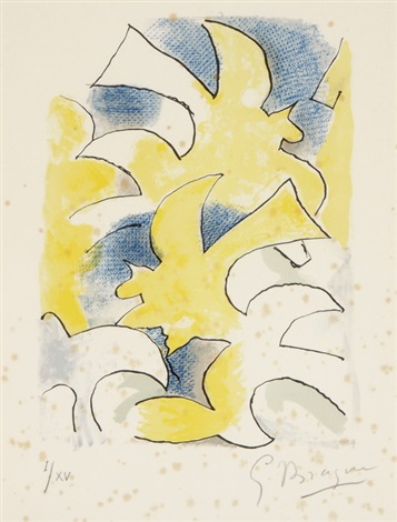 blatt aus lettera amorosa from lettera amorosa by georges braque