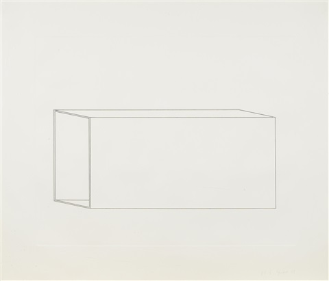 untitled pl 7 from sixteen etchings in black by donald judd