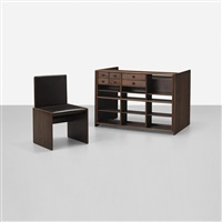 desk, model 216 and chair, model 218 (set of 2) by fabio lenci