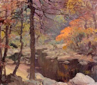 rock creek park, autumn by gladys nelson smith