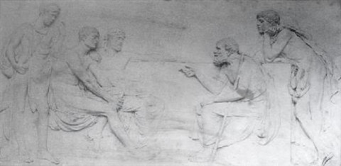 socrates teaching the people in the agora by harry bates by frederick hollyer