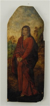 saint in landscape by aelbrecht bouts