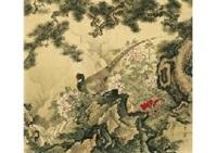 japanese pheasant in spring by hogai kano