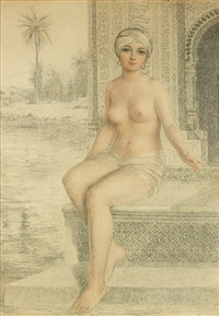 odalisque au bain by amedeo simonetti