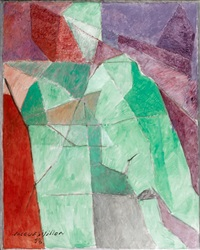l'homme assis by jacques villon