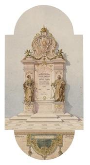 denkmal mit den figuren der kaiserin maria theresia und kaiser josephs ii (design) by edmund von hellmer