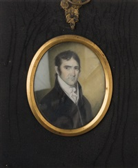portrait of joshua ward (1776-1840) of salem, massachusetts; portrait of his wife, susannah holyoke (2 works) by william verstille