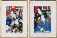actors (2 works) by utagawa toyokuni (toyokuni i)