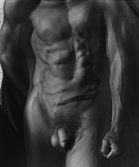 male nude with veil (tight). silverlake by herb ritts