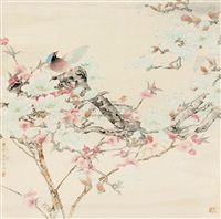flower and bird by zhu pucun