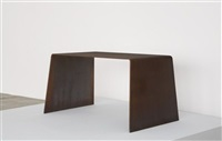 important prototype steel furniture table by scott burton