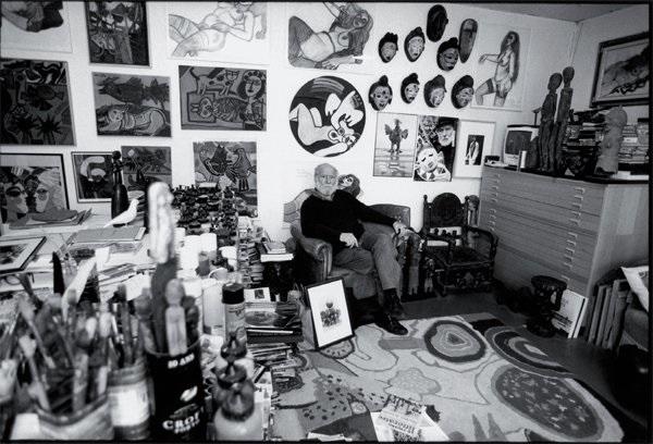 corneille dans son atelier rue du dahomé paris by roberto battistini