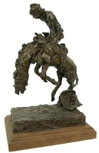 saddle bronco rider by hugh cabot