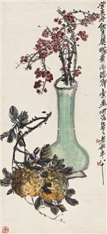 吴昌硕(1844-1927) 瓶梅 by wu changshuo