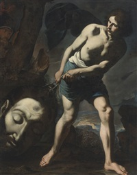 david with the head of goliath by andrea vaccaro
