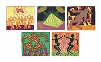 the fertility suite (set of 5) by keith haring