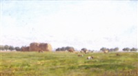 extensive country landscape with cattle by william samuel jay