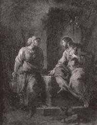 le christ et la samaritaine by jean correge