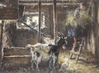 tending the animals by otto piltz