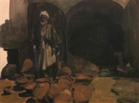 the arab potter by erich wolfsfeld