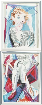 image of gregory (m.c.a.t. 276) (2 works) (from moving focus) by david hockney