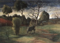 evening landscape by george bernard duncan