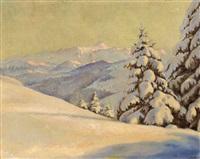 winterlandschaft mit alpstein by milo naef