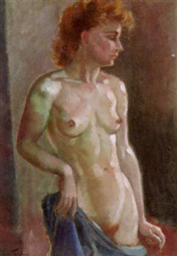 portrait eines weiblichen aktes by max fleischer