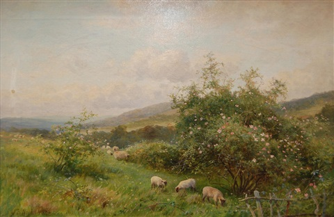 sheep grazing by john bates noel