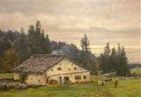 ferme en montagne by edouard jeanmaire