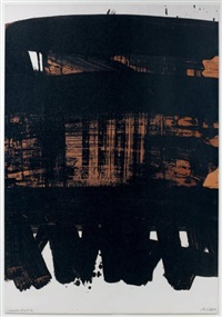 lithographie n° 22 by pierre soulages
