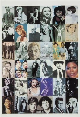 i is for idols from the alphabet series by peter blake
