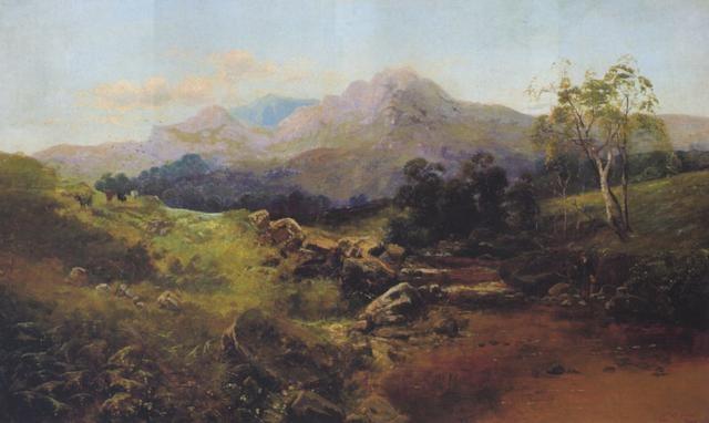 schottische landschaft mit fischern by c austin