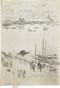 upright venice (from twenty-six etchings) by james abbott mcneill whistler