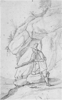 ein gamsjäger by friedrich fleischmann