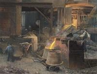ijzergieterij te ijmuiden by herman heijenbrock