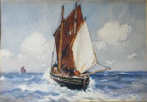 penzance fishing boat by ernest dade