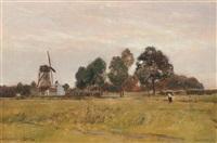 landscape near steenbrugge by rudolf ribarz