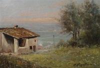 paesaggio con casolare by ferruccio rontini