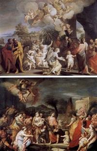 non date scandalo ai fanciulli (+ lasciate che i fanciulli vengano a me, 1708, sgd.; 2 works) by alessandro marchesini