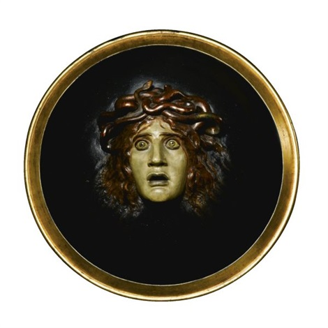 medusenhaupt a shield with the head of medusa by arnold böcklin the elder